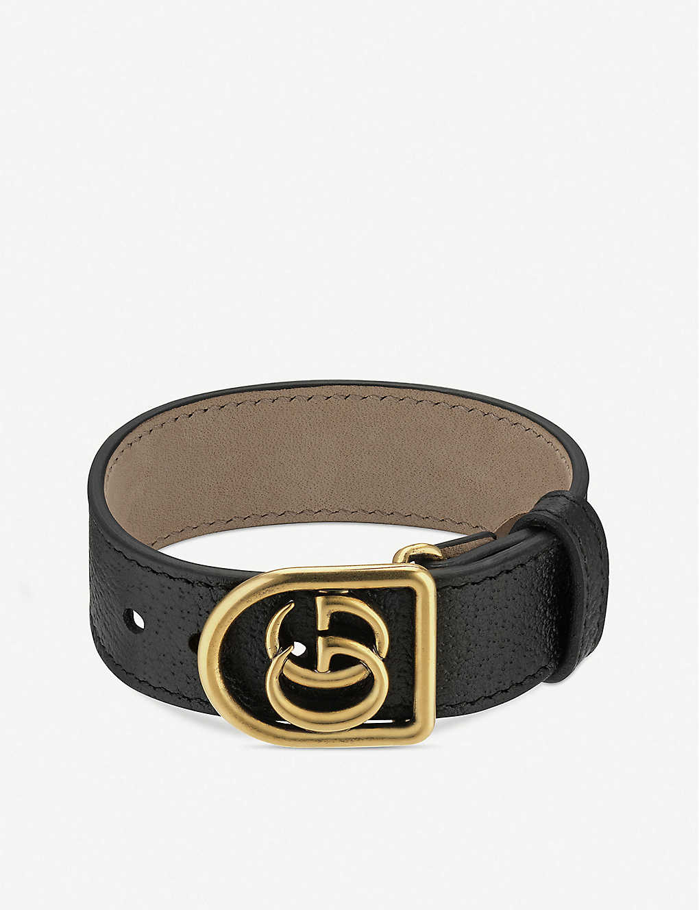230a7be2acc5 GUCCI - Marmont Double G leather bracelet