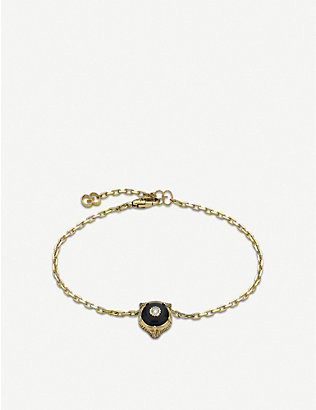 GUCCI: Le Marché des Merveilles 18ct yellow-gold, onyx and diamond bracelet
