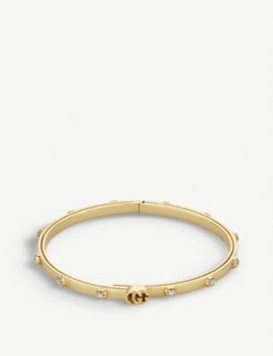 GUCCI GG Running 18ct yellow-gold and white diamond bracelet
