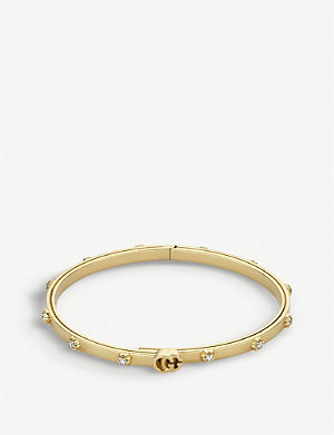 GUCCI GG Running 18ct yellow-gold and white diamond bracelet ab2f42dbf12bd