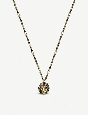 912718543 GUCCI - GG Marmont sterling silver necklace | Selfridges.com