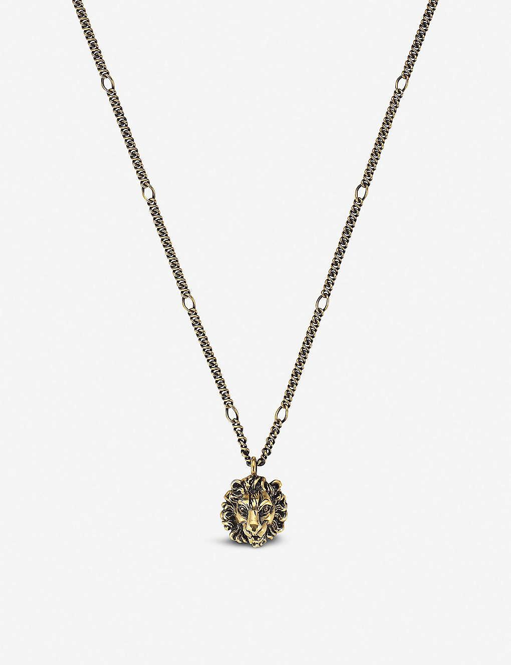 43130a3089f67 GUCCI - Lion head pendant necklace | Selfridges.com