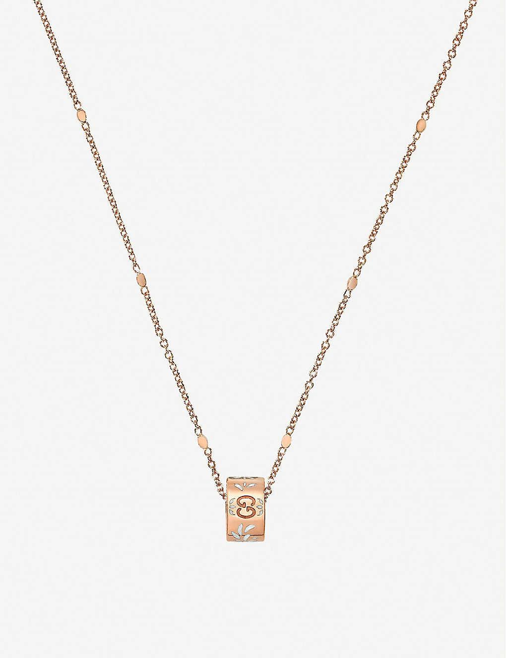 3ff3f8615 GUCCI - Icon blossom 18ct rose gold necklace   Selfridges.com