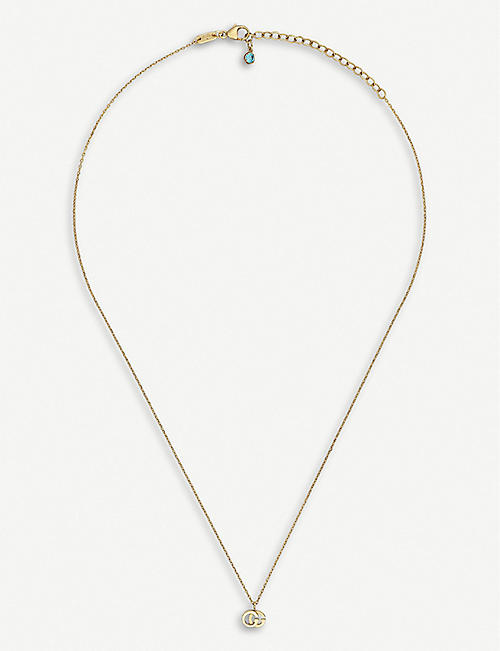 GUCCI GG Running 18ct yellow-gold and white diamond necklace