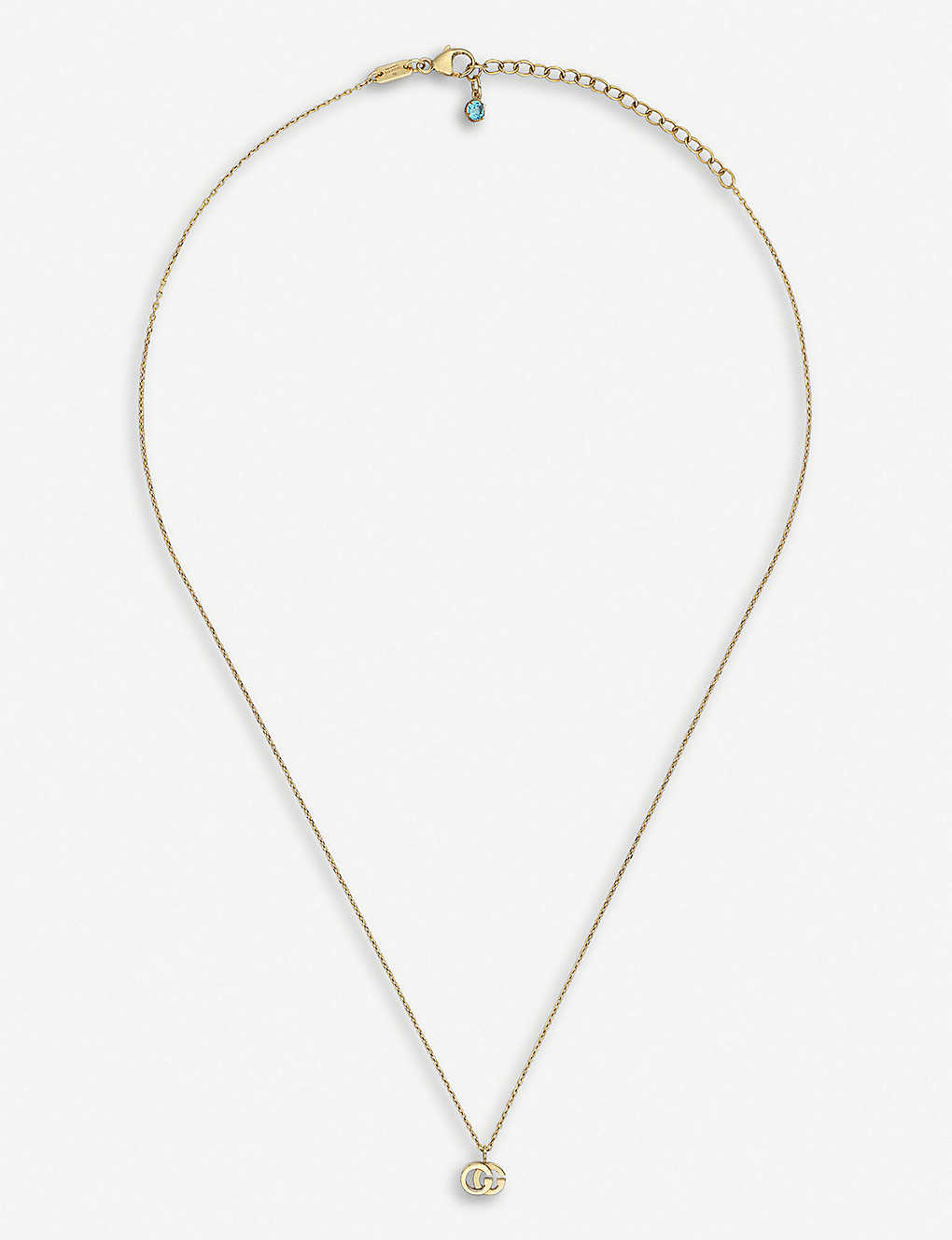 GUCCI: GG Running 18ct yellow-gold and white diamond necklace