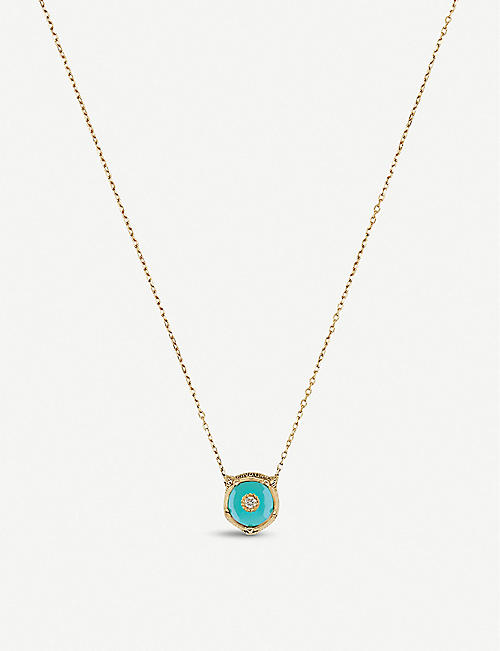 GUCCI Le Marché des Merveilles 18ct yellow-gold, turquoise and diamond necklace