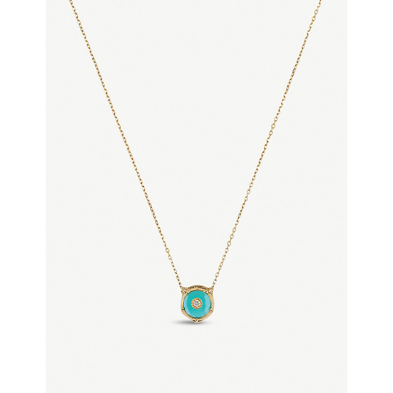 84ca7fe71 Le Marché des Merveilles 18ct yellow-gold, turquoise and diamond necklace |  £1,440.00 | Grazia
