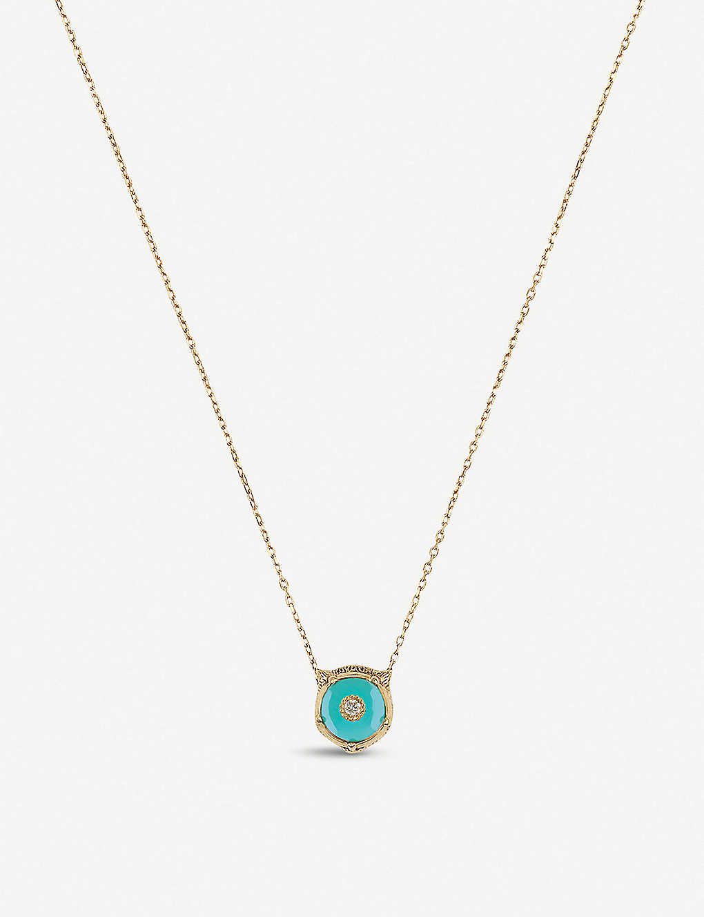 1130aec6d GUCCI - Le March? des Merveilles 18ct yellow-gold, turquoise and ...