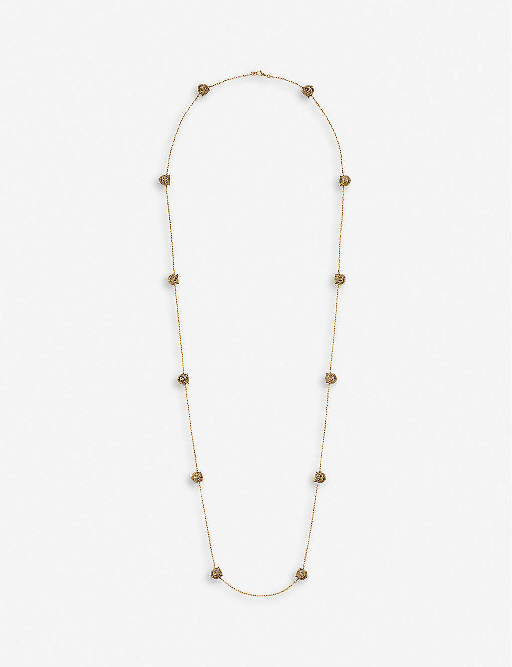 GUCCI: Le Marché des Merveilles 18ct yellow-gold and diamond necklace