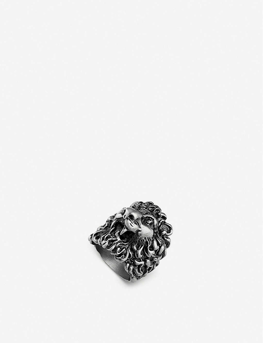 c158460bd GUCCI - Lion head aged metal ring | Selfridges.com