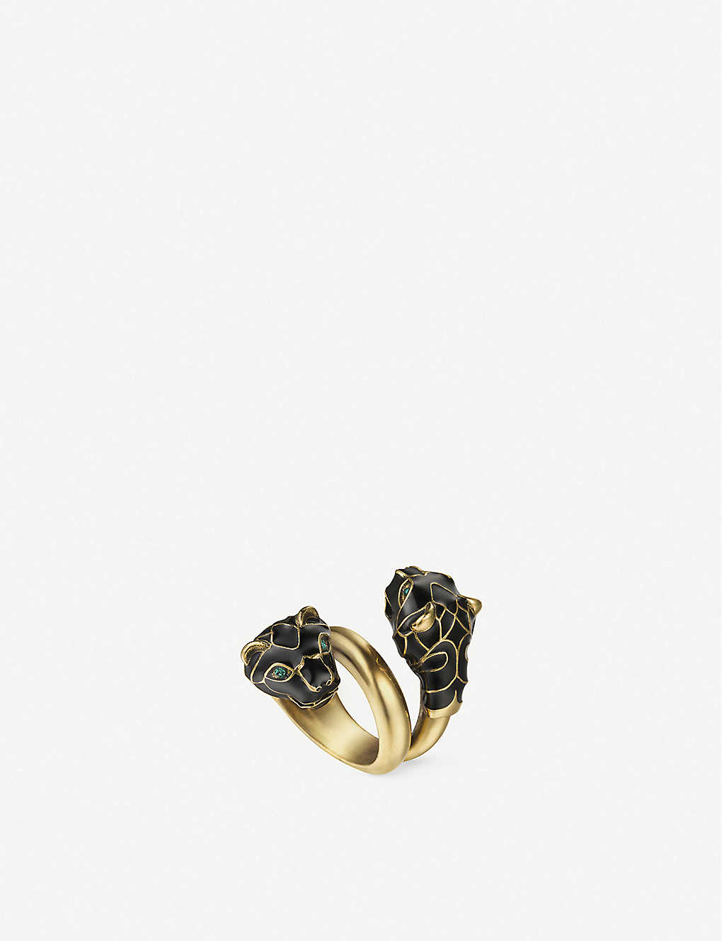 ff936648d GUCCI - Tiger head Swarovski crystal metal wrap ring | Selfridges.com