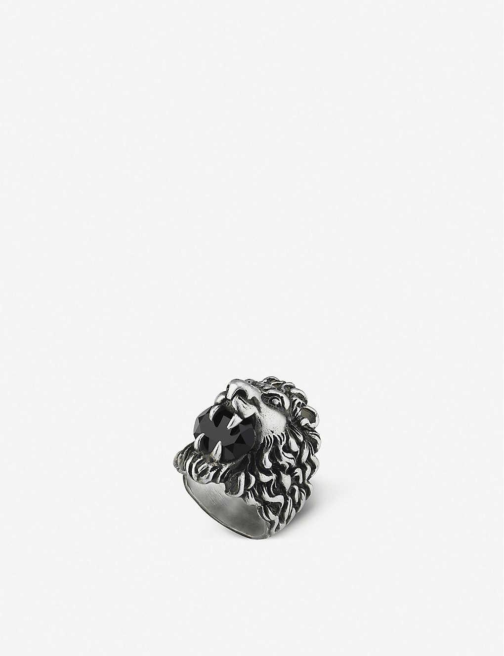 f178c4cfc GUCCI - Lion head aged metal ring | Selfridges.com