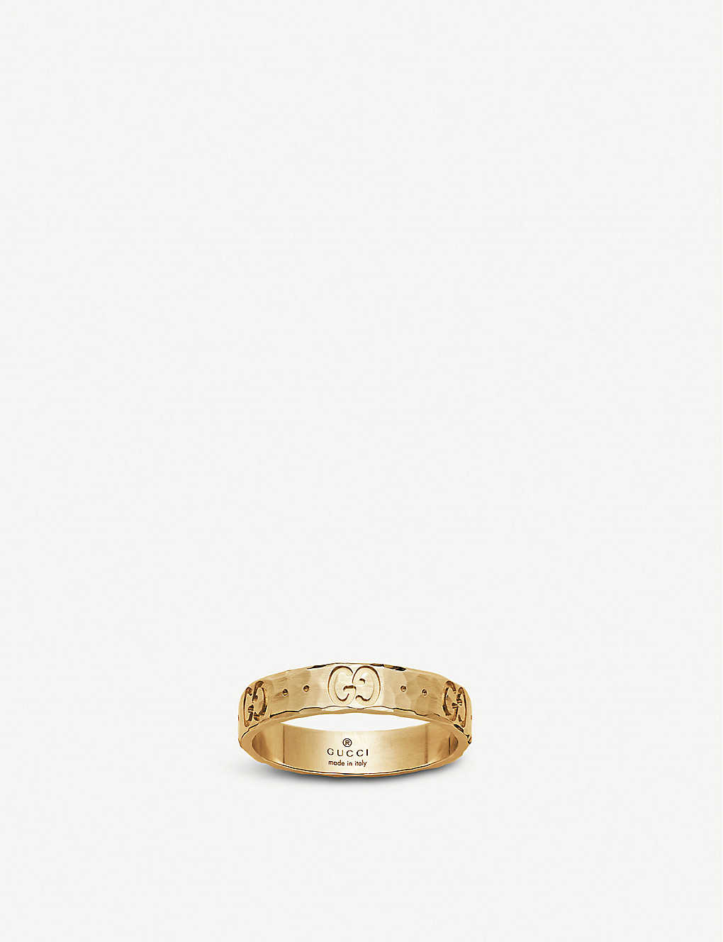 1dfa772aa GUCCI - Icon hammered 18ct yellow gold ring | Selfridges.com
