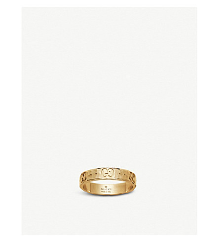 ea6a1e19652915 ... GUCCI Icon hammered 18ct yellow gold ring. PreviousNext