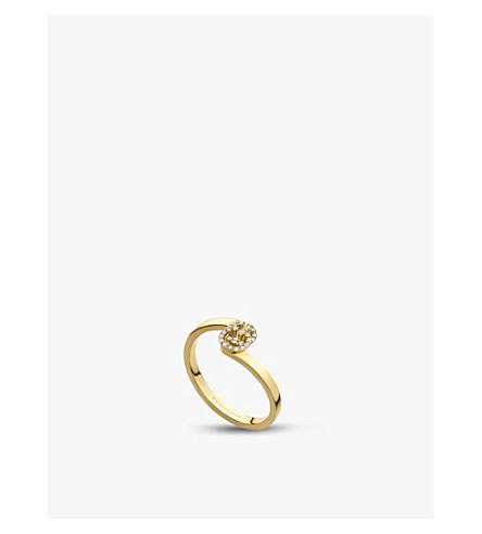 1d63de8055b GUCCI - GG Running 18ct gold and diamond ring