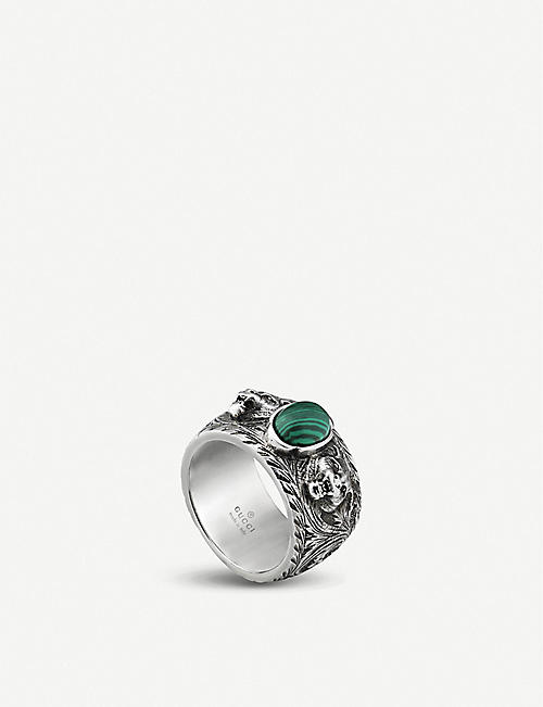 GUCCI: Garden sterling-silver ring