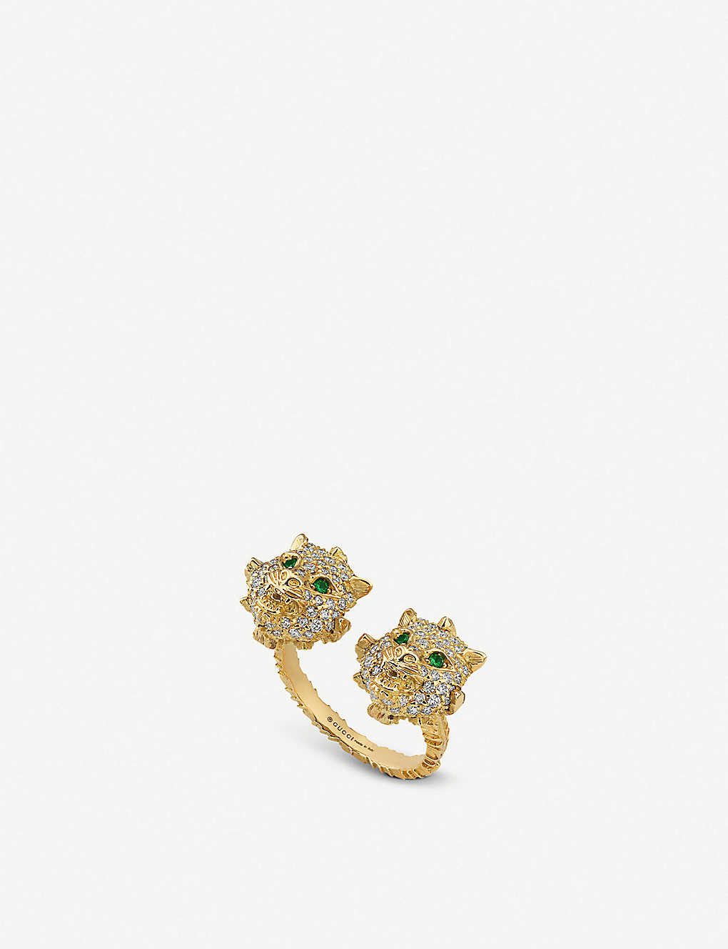 GUCCI: Le March? des Merveilles 18ct yellow-gold, tsavorite and diamond ring