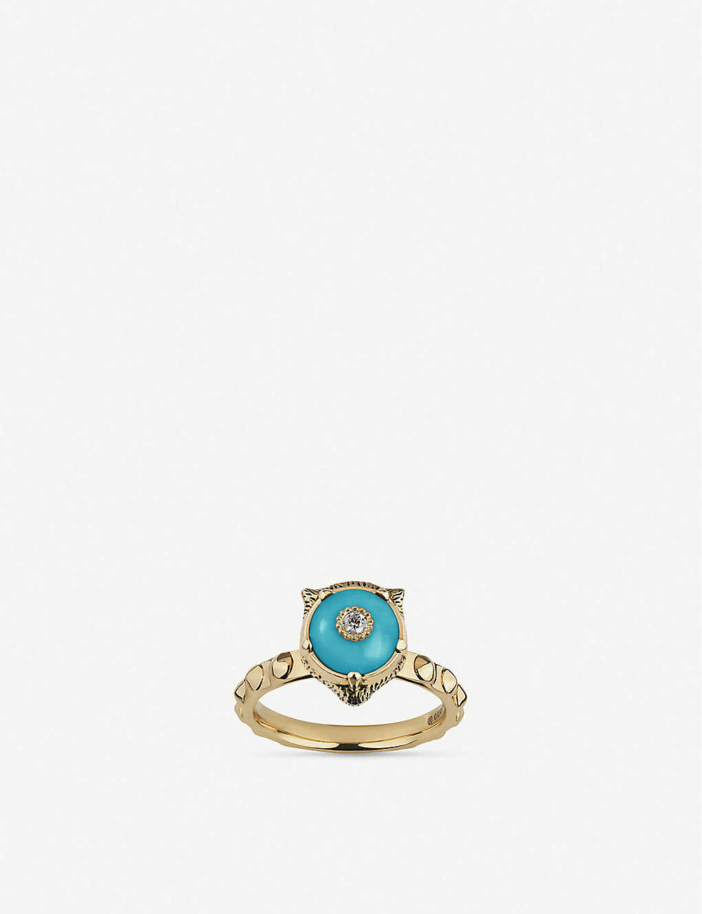 00a7b940d GUCCI Le Marché des Merveilles 18ct yellow-gold, turquoise and diamond ring