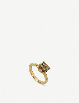 GUCCI Le Marché des Merveilles 18ct yellow-gold and diamond ring