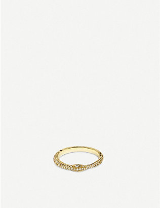 GUCCI: Ouroboros 18ct yellow-gold and diamond ring