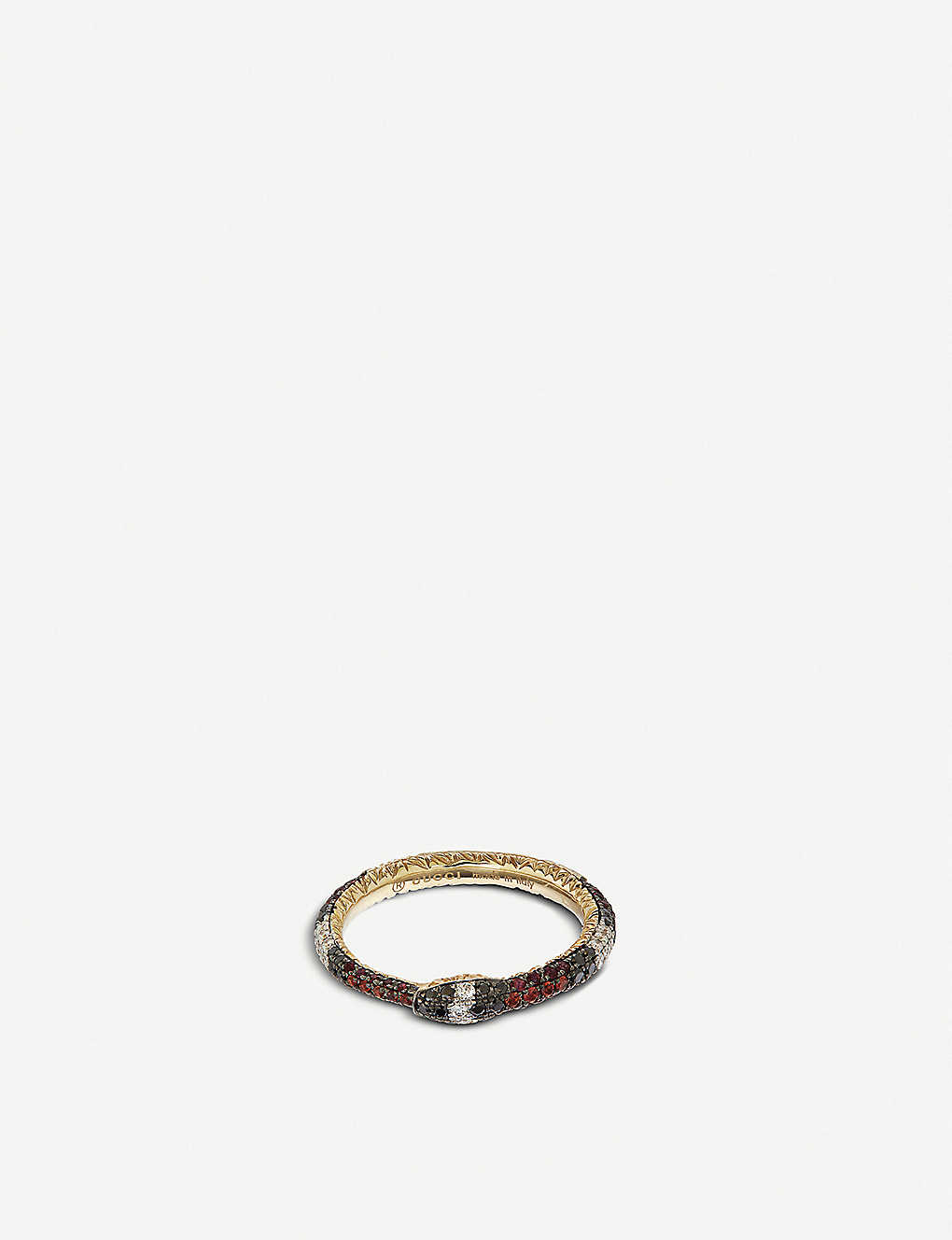 12dba05d7 GUCCI - Ouroboros 18ct yellow-gold, red topaz and diamond ring ...
