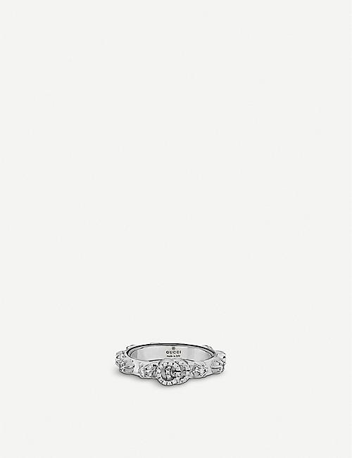 GUCCI GG Running 18ct white-gold and white diamond ring