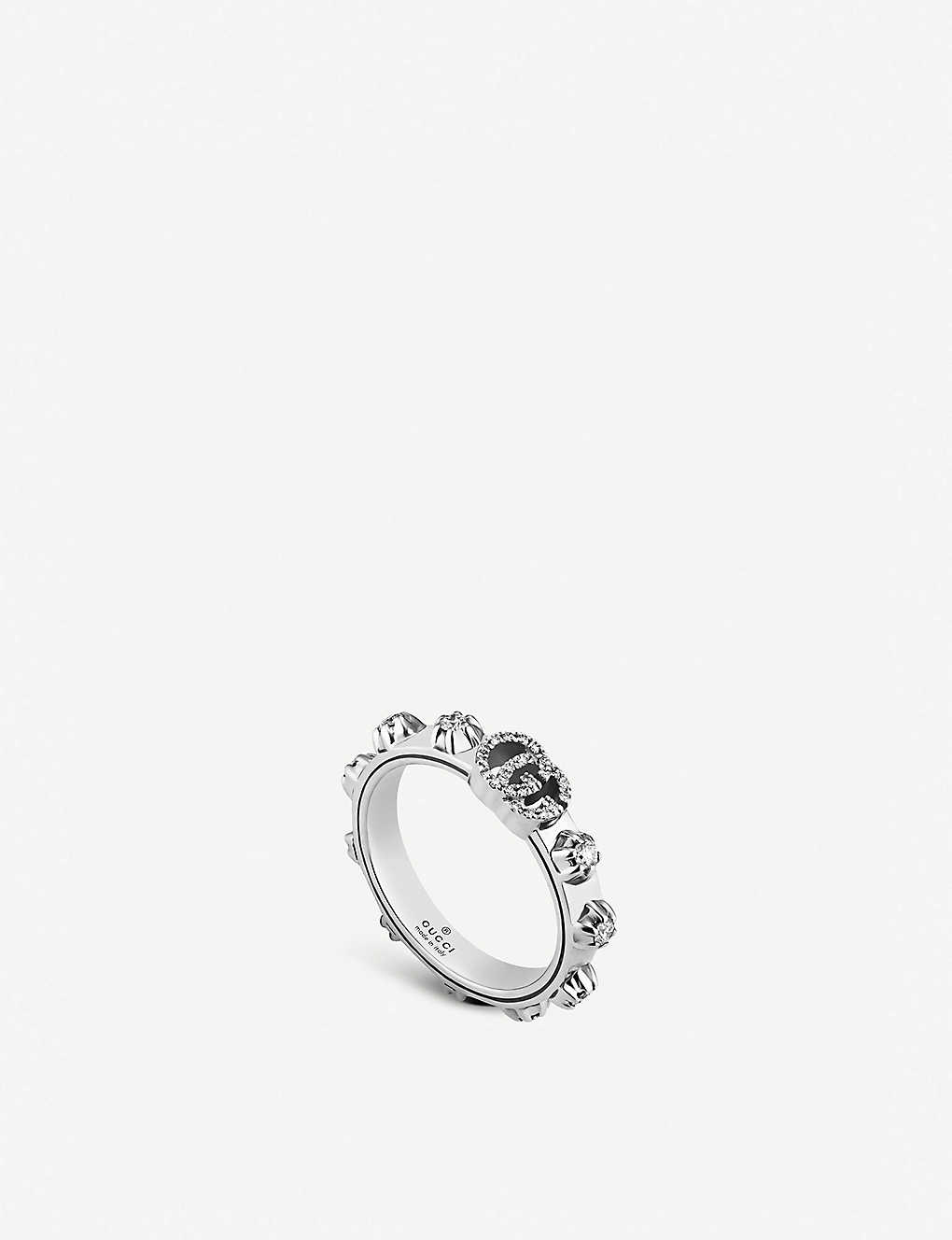 bb143bd5d GUCCI - GG Running 18ct white-gold and white diamond ring ...