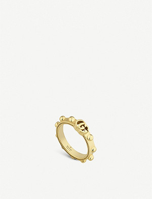 GUCCI GG Running 18ct yellow-gold ring