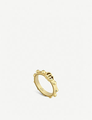 81660c88200a20 GUCCI - Icon hammered 18ct white gold ring