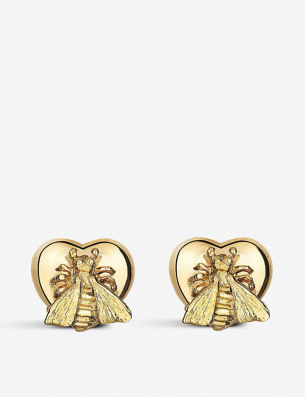 046c2127a GUCCI - Le marché des merveille 18ct gold earrings   Selfridges.com