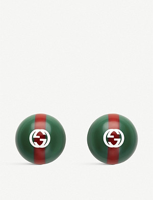 GUCCI Wed print resin studs