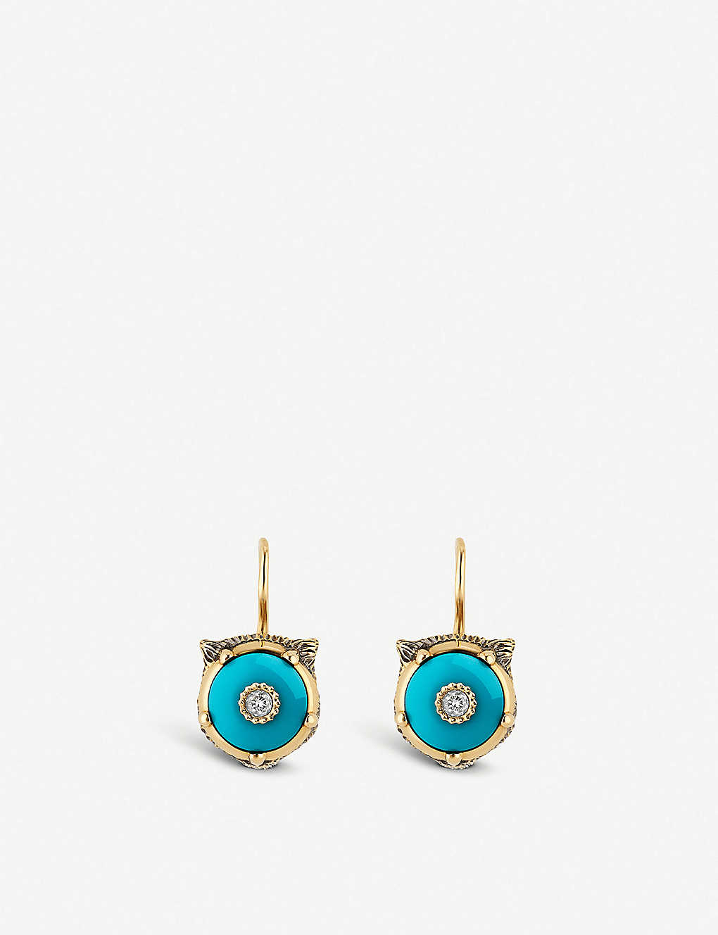 11200fe403b302 GUCCI - Le Marché des Merveilles 18ct yellow-gold, turquoise and ...