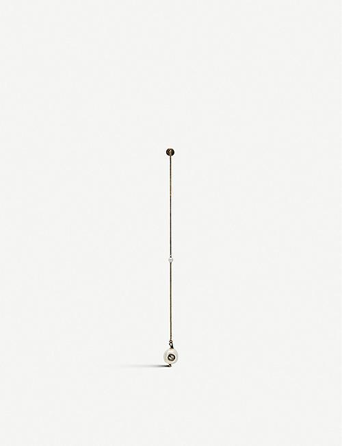 94bd79e3f0c GUCCI Interlocking G single pearl pendant earring