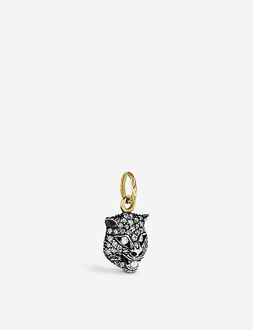 GUCCI Le Marché des Merveilles 18ct yellow-gold, diamond and pearl charm