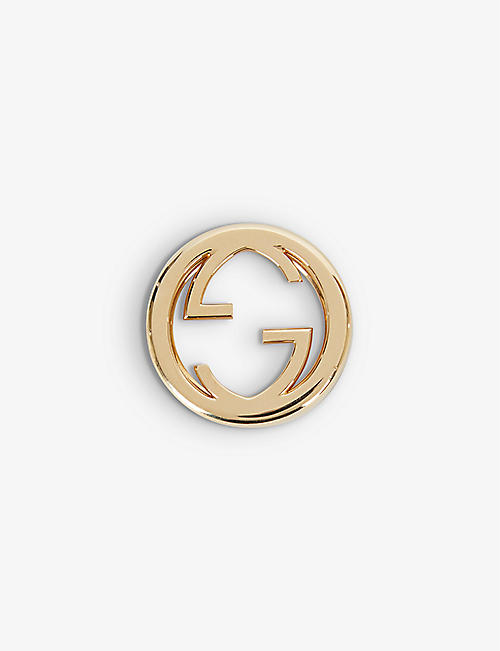 GUCCI: Play logo 18ct yellow gold bezel