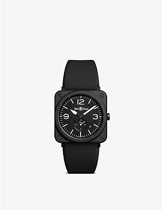 BELL & ROSS: BRSBLCEM Aviation ceramic and rubber watch