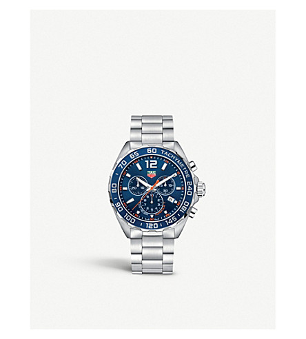 Tag Heuer MENS BLUE CAZ1014BA0842 FORMULA 1 STAINLESS STEEL WATCH