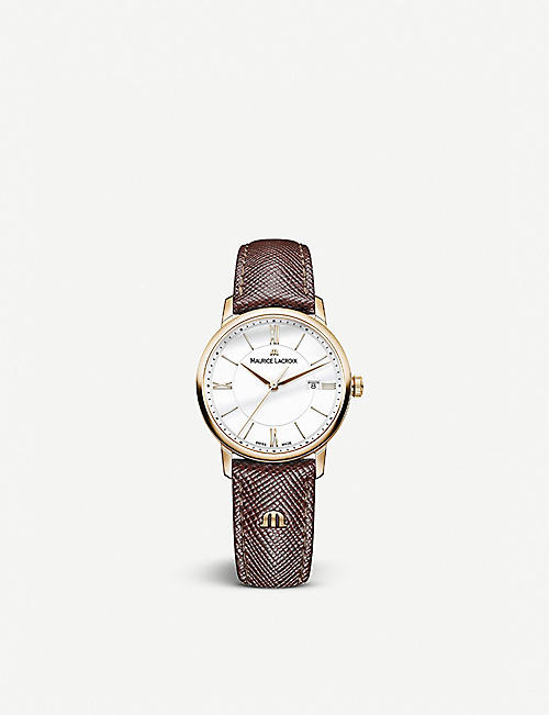 MAURICE LACROIX: EL1084-PVP01-110 Eliros gold-plated stainless-steel quartz watch