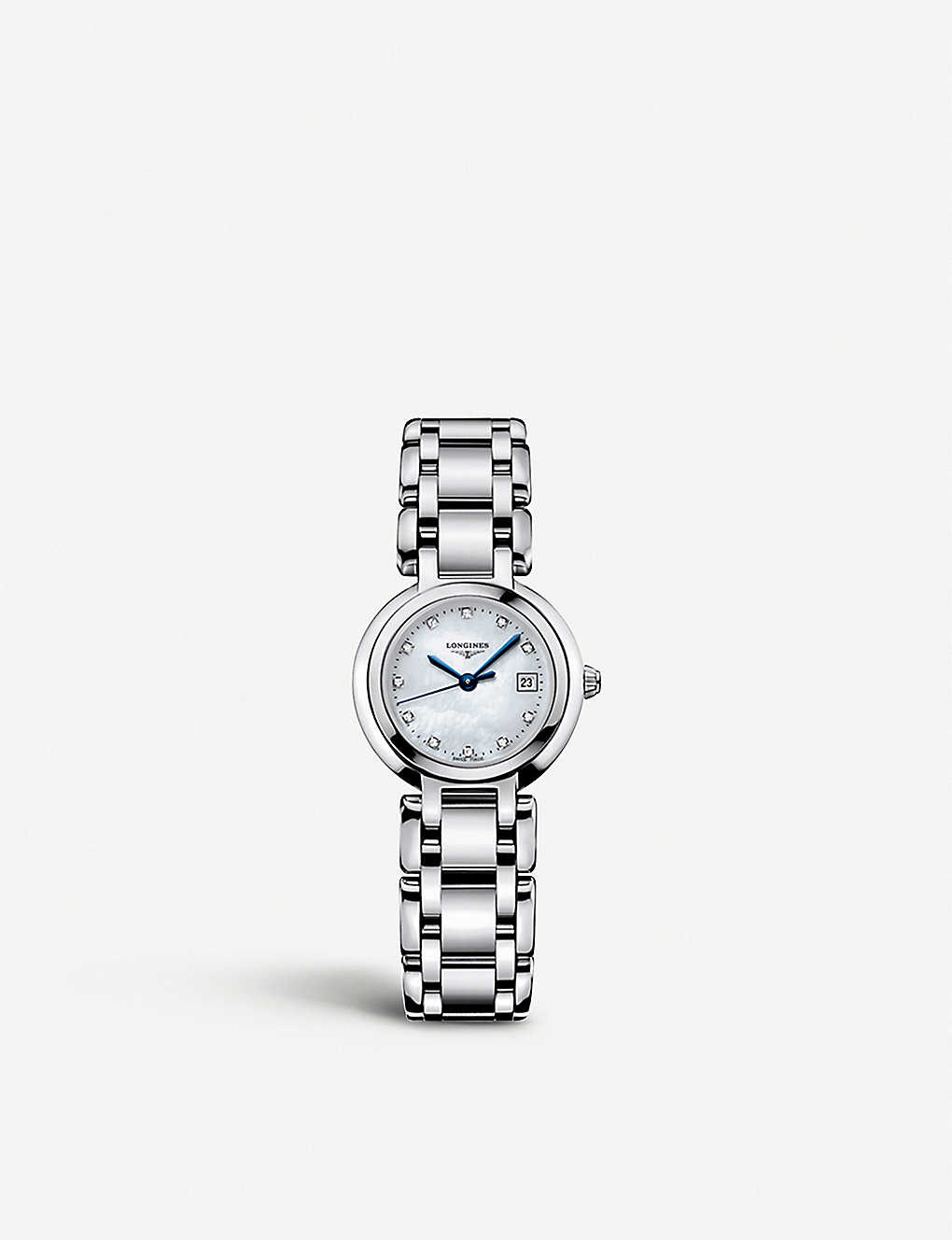 LONGINES: L8.110.4.87.6 Prima Luna stainless steel and diamond watch
