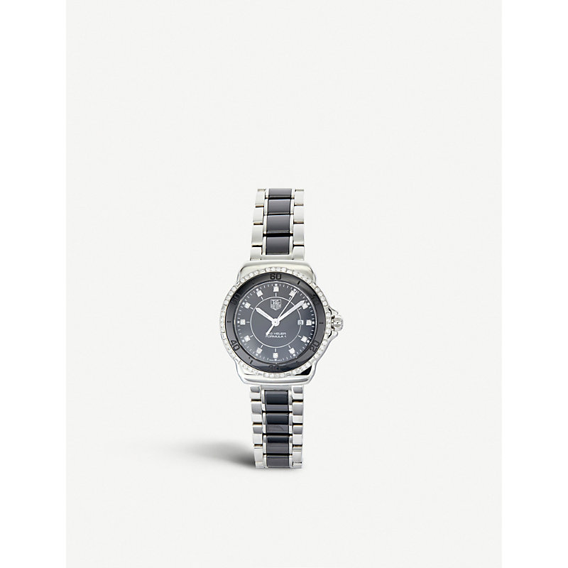 TAG HEUER Formula 1 Stainless Steel And Black Ceramic Watch With Diamonds, 32Mm in Ceramic- Black