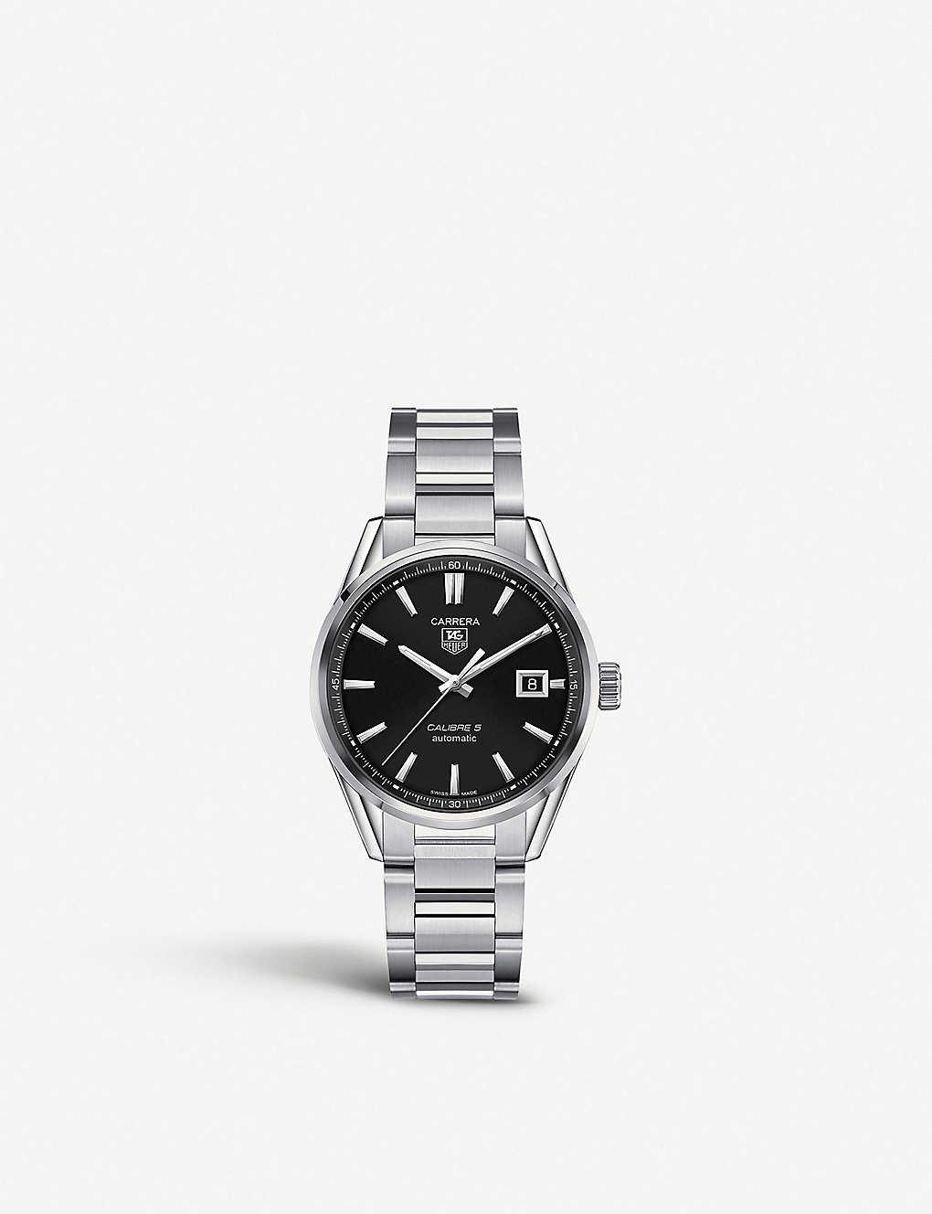 Tag Carrera Watch >> Tag Heuer Carrera Calibre 5 Watch Selfridges Com