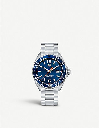 TAG HEUER: WAZ1010BA0842 formula 1 stainless steel blue mens