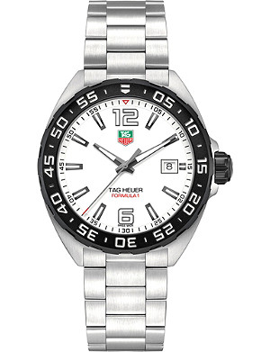 TAG HEUER WAZ1111BA0875 formula 1 stainless steel white gents