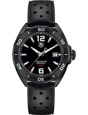 TAG HEUER WAZ2115.ft8023 Formula 1 titanium and rubber watch
