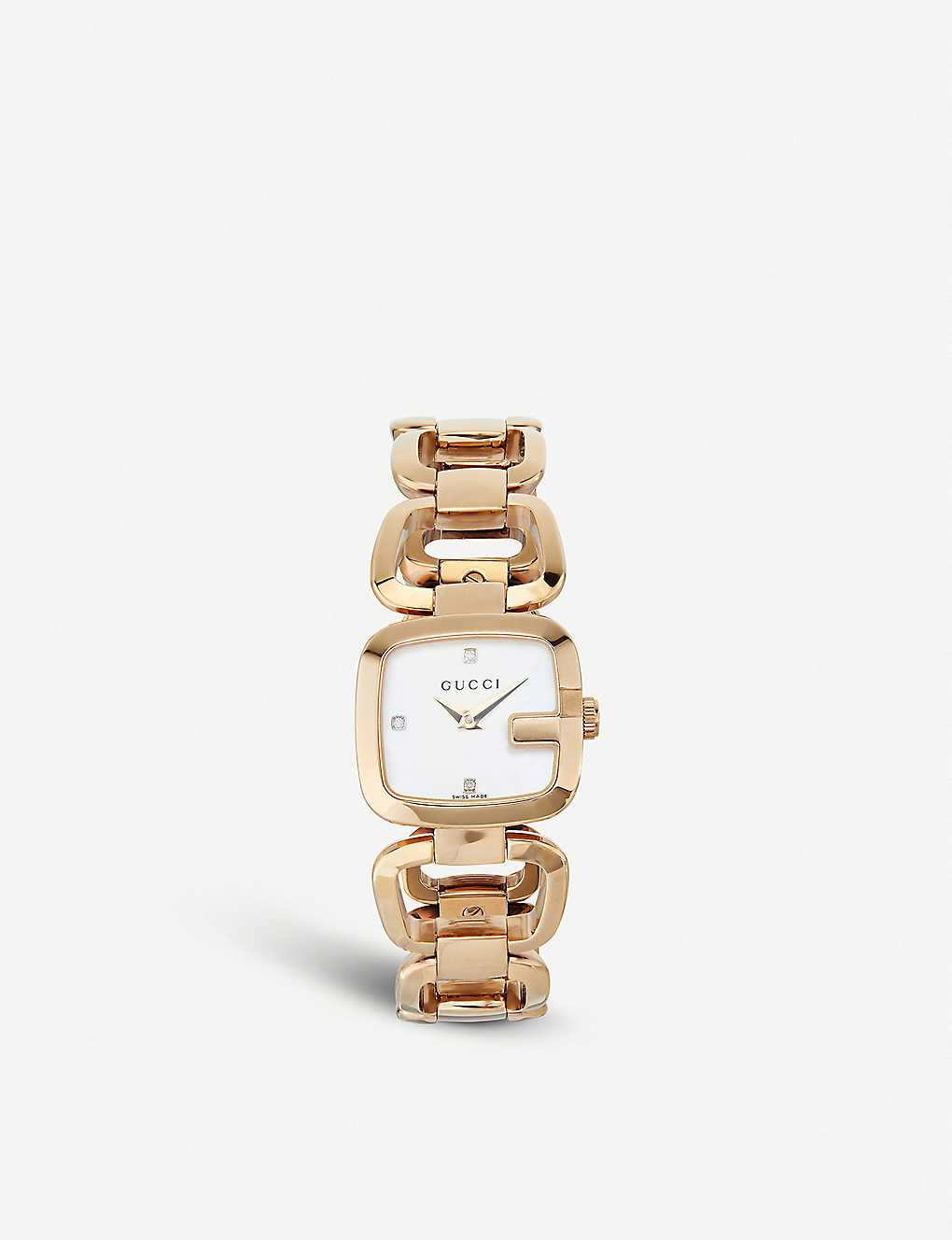 8928adfa530 GUCCI - YA125513 G-Gucci Collection yellow-gold PVD watch ...