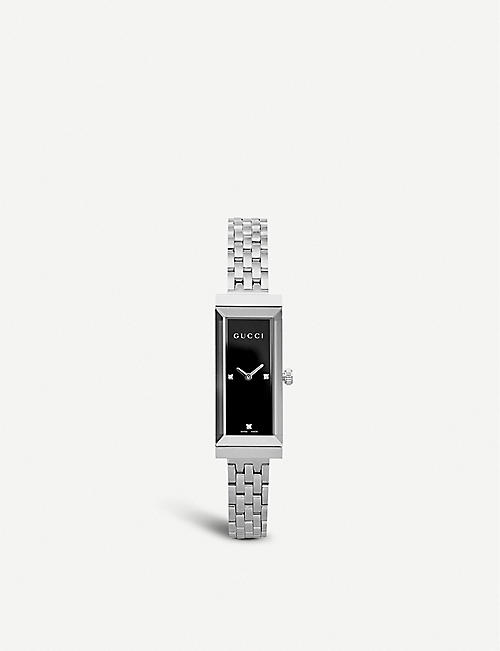 GUCCI YA127504 G-Frame stainless steel and diamond watch