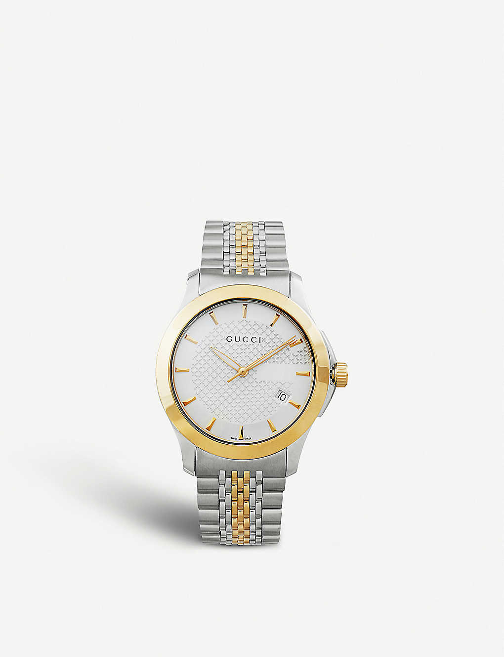 2dc9769c17d YA126409 G-Timeless Collection stainless steel and yellow-gold PVD watch -  Silver ...