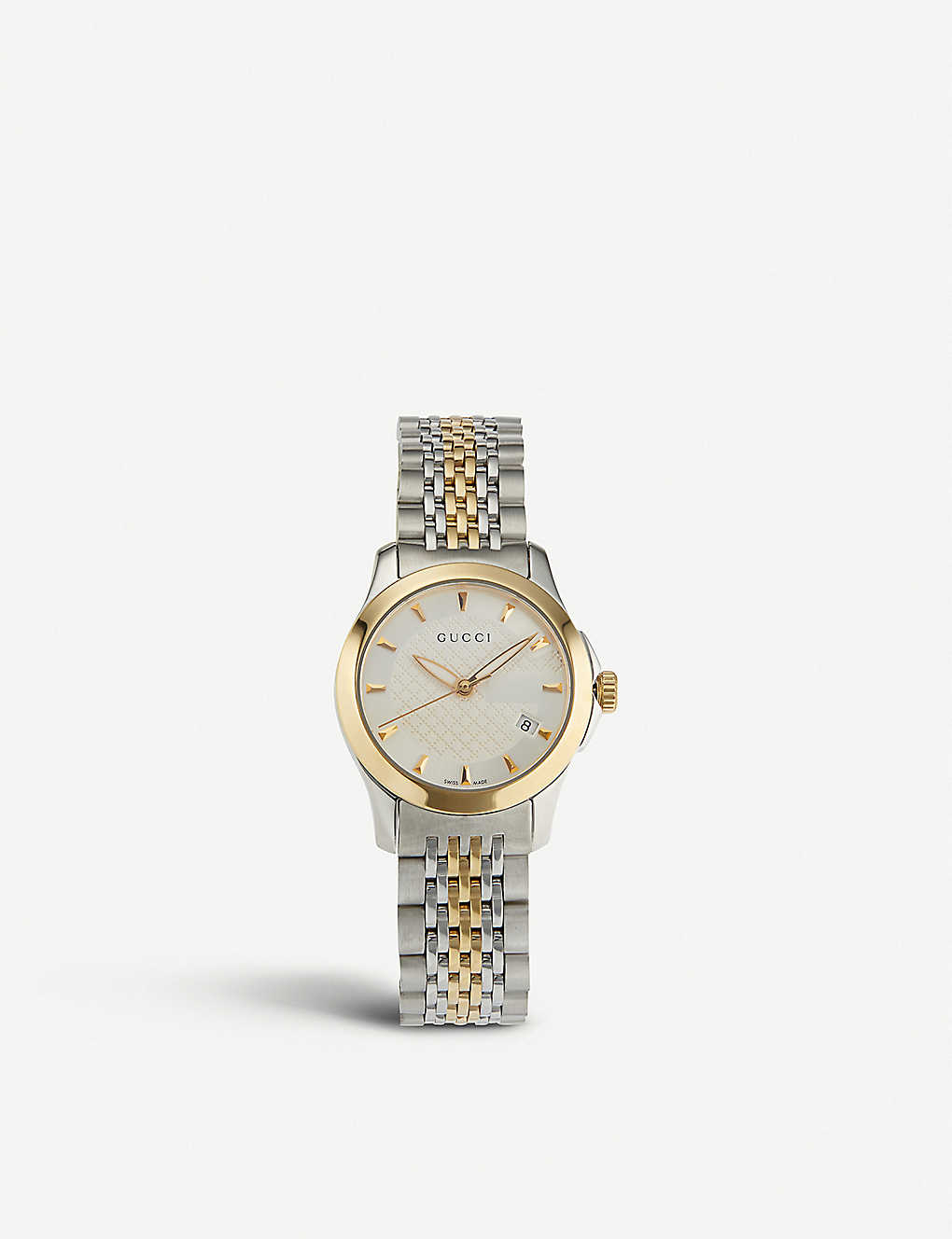 18255b32c43 YA126511 G-Timeless stainless steel and yellow-gold PVD watch - Silver ...