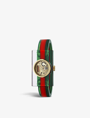 af13839cf15 GUCCI - YA133308 Interlocking-G Collection stainless steel watch ...