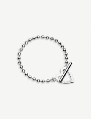 GUCCI Toggle heart loose link bracelet